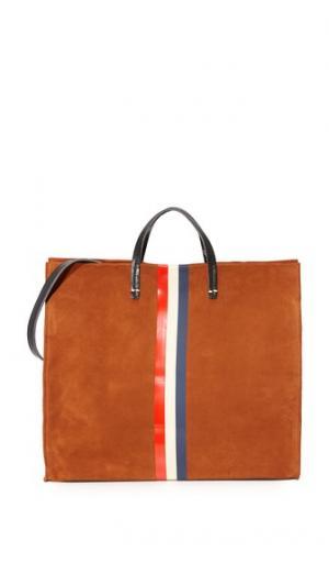 Простая объемная сумка Supreme с короткими ручками Clare V.