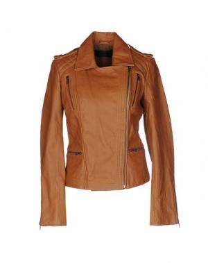 Куртка ENES. Цвет: коричневый