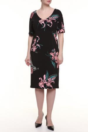 Платье Maria Grazia Severi. Цвет: черный, бирюза