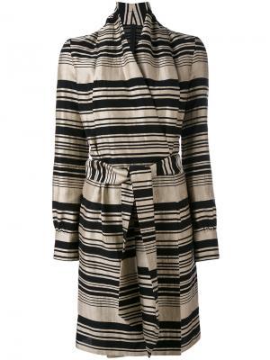 Striped belted dress Gareth Pugh. Цвет: чёрный
