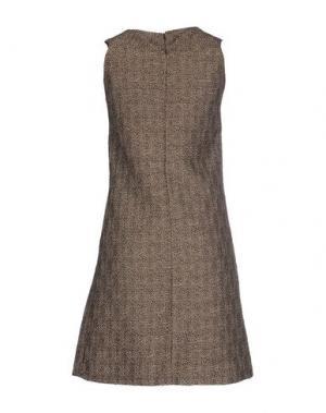 Короткое платье JO NO FUI. Цвет: свинцово-серый