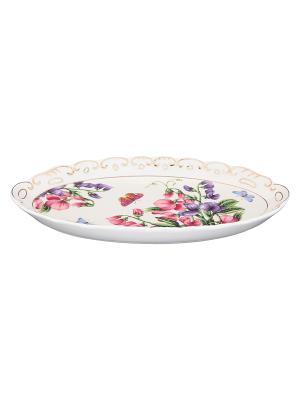 Селедочница Душистый цветок Elan Gallery. Цвет: белый, фиолетовый, розовый