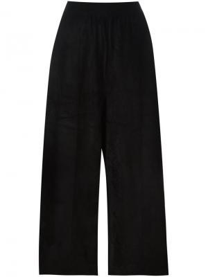 Укороченные свободные брюки Boboutic. Цвет: чёрный