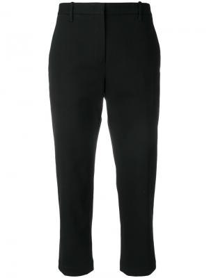 Укороченные брюки строгого кроя Jil Sander. Цвет: чёрный