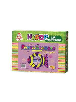 Рамка-шнуровка для фото  Рыбка Азбука Тойс. Цвет: зеленый