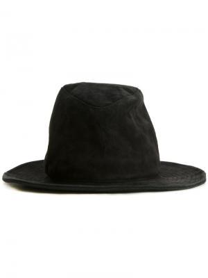 Шляпа с мятым эффектом Kijima Takayuki. Цвет: чёрный