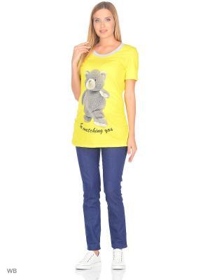 Туника ФЭСТ. Цвет: желтый, серый