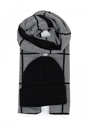 Комплект шапка и шарф Venera. Цвет: разноцветный