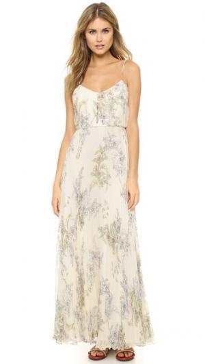 Вечернее платье из шелкового шифона в складку Jill Stuart. Цвет: девичий цветочный