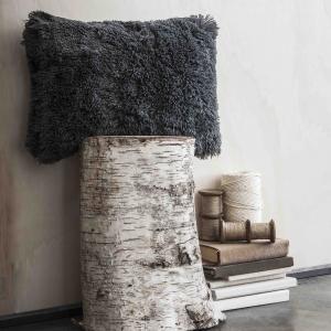 Подушка из искусственного меха OSLOW LA REDOUTE. Цвет: темно-серый
