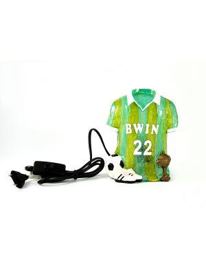 Светильник Футбол Русские подарки. Цвет: светло-зеленый, светло-желтый, белый