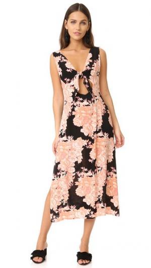 Миди-платье Capulet Cleobella. Цвет: «пыльный» розовый