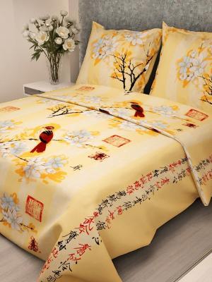 Комплект постельного белья Letto B115-3, бязь, 1,5-сп. Цвет: желтый