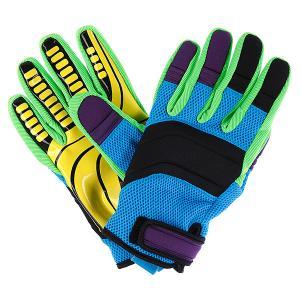 Перчатки сноубордические  Roverul Neff. Цвет: голубой,зеленый,черный