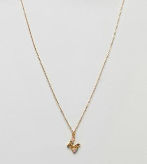 Bill Skinner Ожерелье с подвеской М. Цвет: золотой
