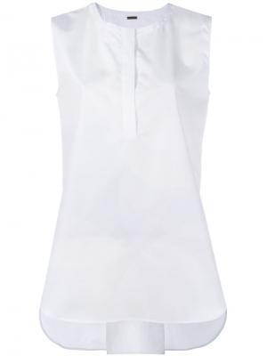Блузка без рукавов Adam Lippes. Цвет: белый