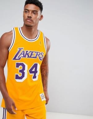 Mitchell & Ness Майка NBA L.A. Lakers Swingman. Цвет: черный