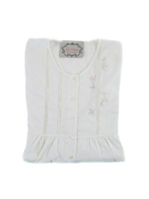 Ночная сорочка La Pastel. Цвет: розовый, белый