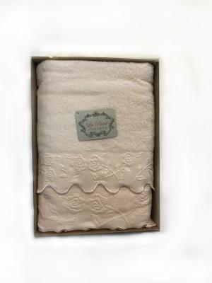 Комплект полотенец 2 предмета, 50х90, 70х140. La Pastel. Цвет: розовый