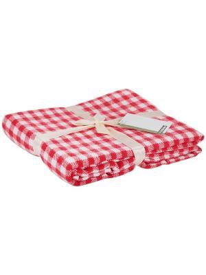 Плед 130*170 см vishi vishit-red Cite Marilou. Цвет: красный, белый