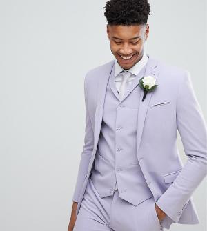 ASOS Сиреневый приталенный пиджак TALL Wedding. Цвет: фиолетовый