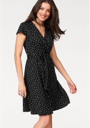 Платье VIVANCE. Цвет: красный/белый, кремовый/белый, черный/белый