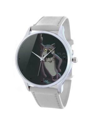 Дизайнерские часы Пёс Tina Bolotina. Цвет: серо-коричневый, белый