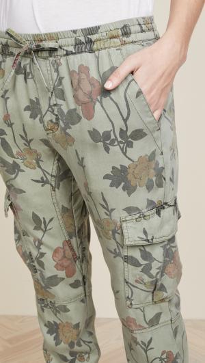 Floral Printed Cargo Pants Pam & Gela