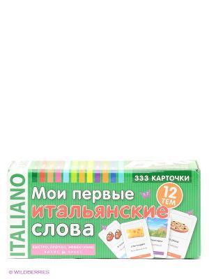 Карточки. Мои первые итальянские слова. 333 карточки для запоминания АЙРИС-пресс. Цвет: зеленый