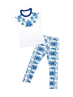 Комплект Апрель. Цвет: синий, белый, голубой