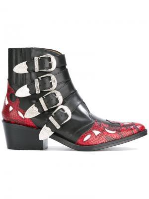Ботинки в стиле вестерн Toga Pulla. Цвет: чёрный