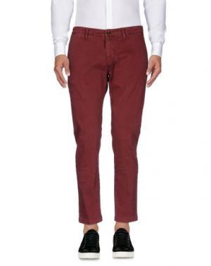 Повседневные брюки BRIGLIA 1949. Цвет: красно-коричневый