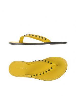 Вьетнамки DSQUARED2. Цвет: желтый