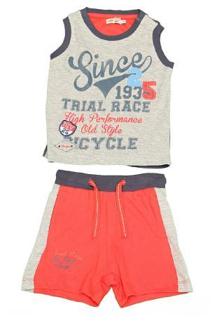 Комплект: футболка и шорты Olimpias. Цвет: серый