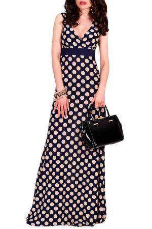 Платье MONT PELLIER. Цвет: бежевый горох