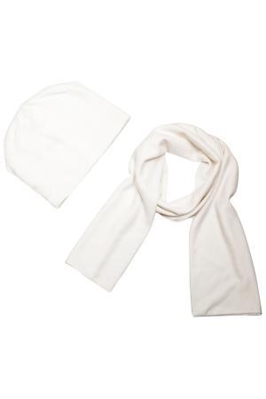 Комплект: шапка, шарф Asavi Jewel. Цвет: белый