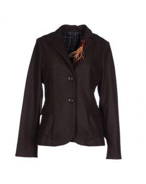 Пиджак J.W. BRINE. Цвет: темно-коричневый