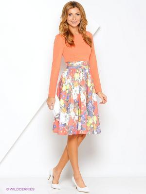 Платье Xarizmas. Цвет: коралловый, белый, синий, зеленый