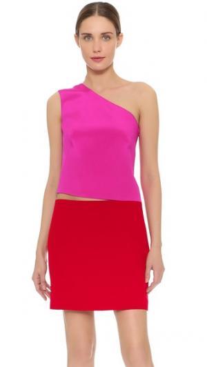 Короткое асимметричное платье KAUFMANFRANCO. Цвет: фуксия/красный