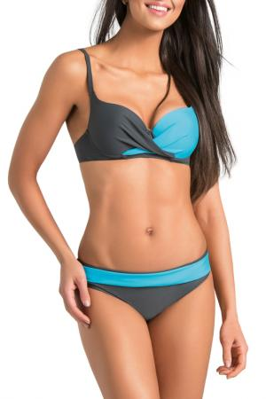 Swimsuit GWINNER. Цвет: graphite and turquoise