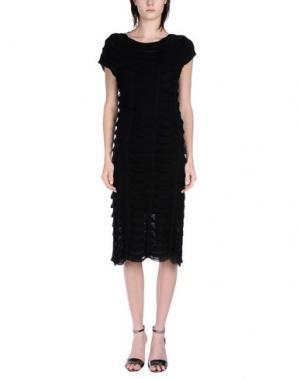 Платье длиной 3/4 GAZEL. Цвет: черный