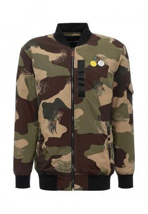 Куртка Quiksilver. Цвет: хаки