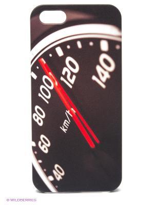 Чехол для IPhone 5 Скорость Mitya Veselkov. Цвет: черный, красный