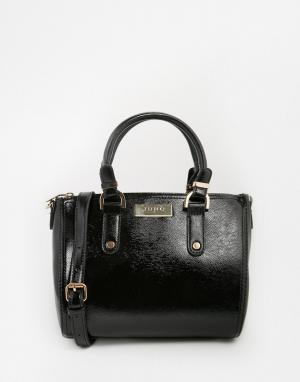 Juno Accessories Лакированная сумка-тоут. Цвет: черный
