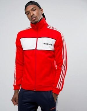 Adidas Originals Красная спортивная куртка London Pack Block BK7840. Цвет: красный