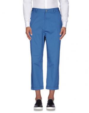 Повседневные брюки 26.7 TWENTYSIXSEVEN. Цвет: пастельно-синий