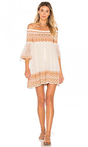 Платье adina Ronny Kobo. Цвет: белый