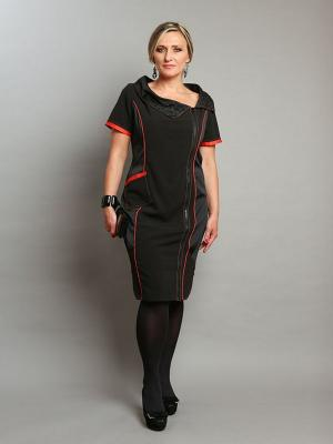 Платье Giani F. Цвет: черный, оранжевый