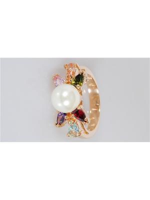 Кольцо Жемчуг Lotus Jewelry. Цвет: белый