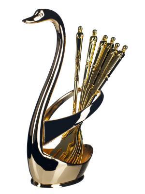 Набор вилок, 7 предметов Elff Ceramics. Цвет: золотистый